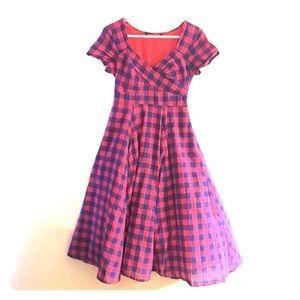 Fit'n Flare Retro Cap Sleeved Dress